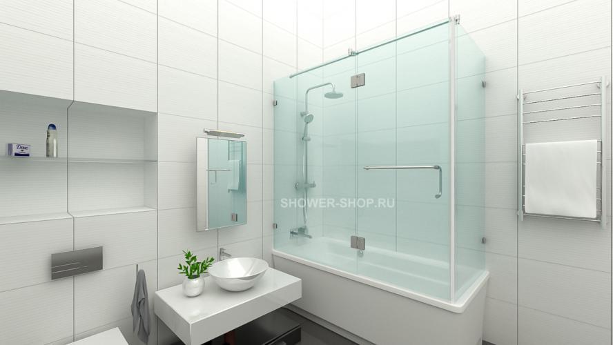 Фурнитура для шторки на ванну уголком №707